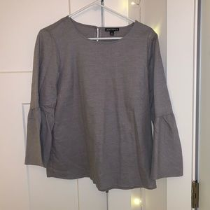 grey jcrew blouse